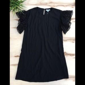 She + Sky black dress ruffle sleeves,loose fitting